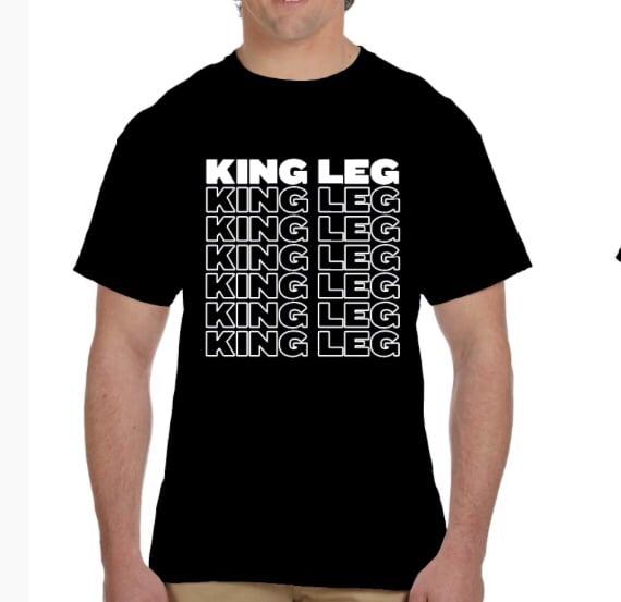 Image of King Leg Repeat Black T