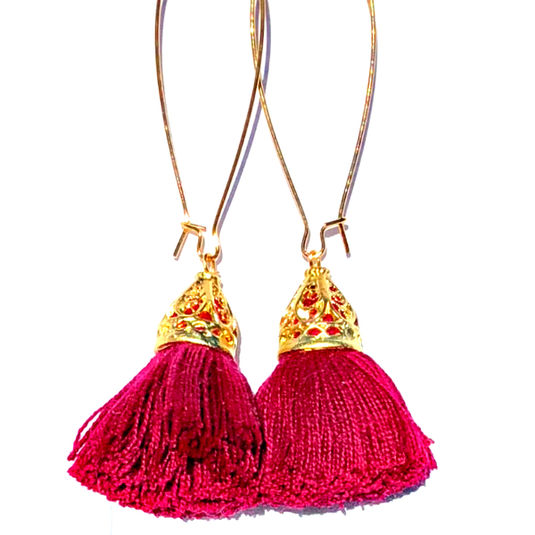 Image of Ltd Ed - Gold Waikiki Tassel Earrings - Shiraz