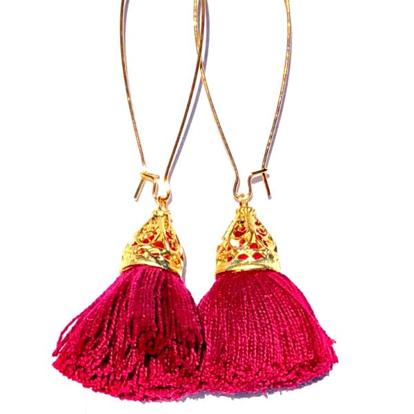 Image of Ltd Ed - Gold Waikiki Tassel Earrings - Shiraz
