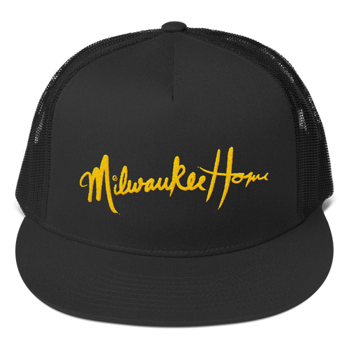 Image of Milwaukee Home Script Five Panel Trucker Hat Mesh Back (more colors)