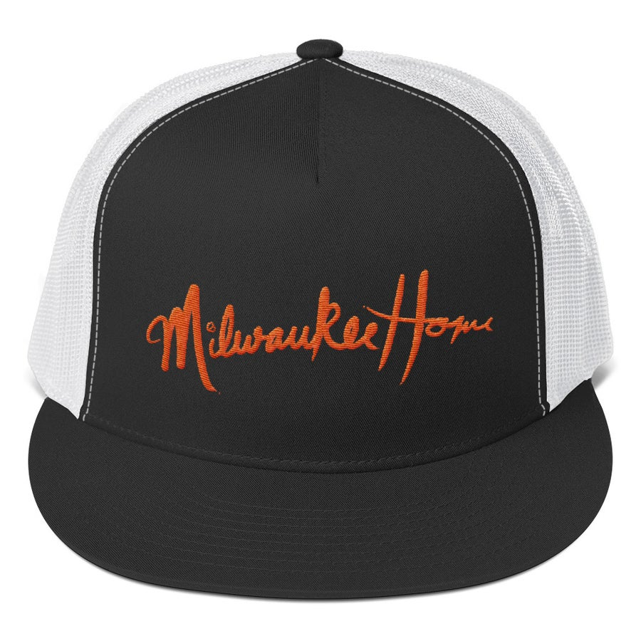 Image of MilwaukeeHome Script Trucker Hat Mesh Back (assorted colors available)