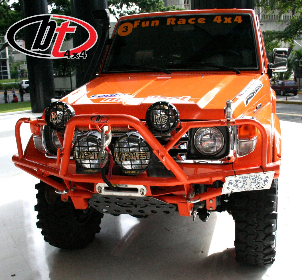 Image of BT4x4 Toyota Land Cruiser 70 series Rally front bumper wirt grill guard
