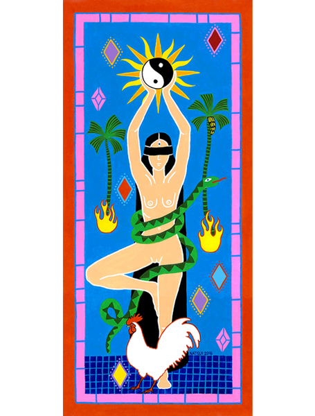 Image of Vrksasana (Tree Pose) Giclee Print