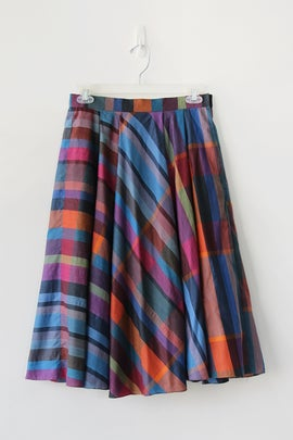 Image of SOLD Rainbow Plaid Skirt