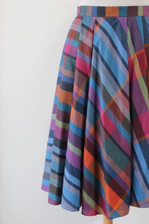 Image of SOLD Rainbow Plaid Skirt