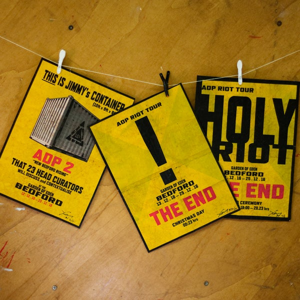 Image of ADP Riot Tour Distressed Posters (signed)