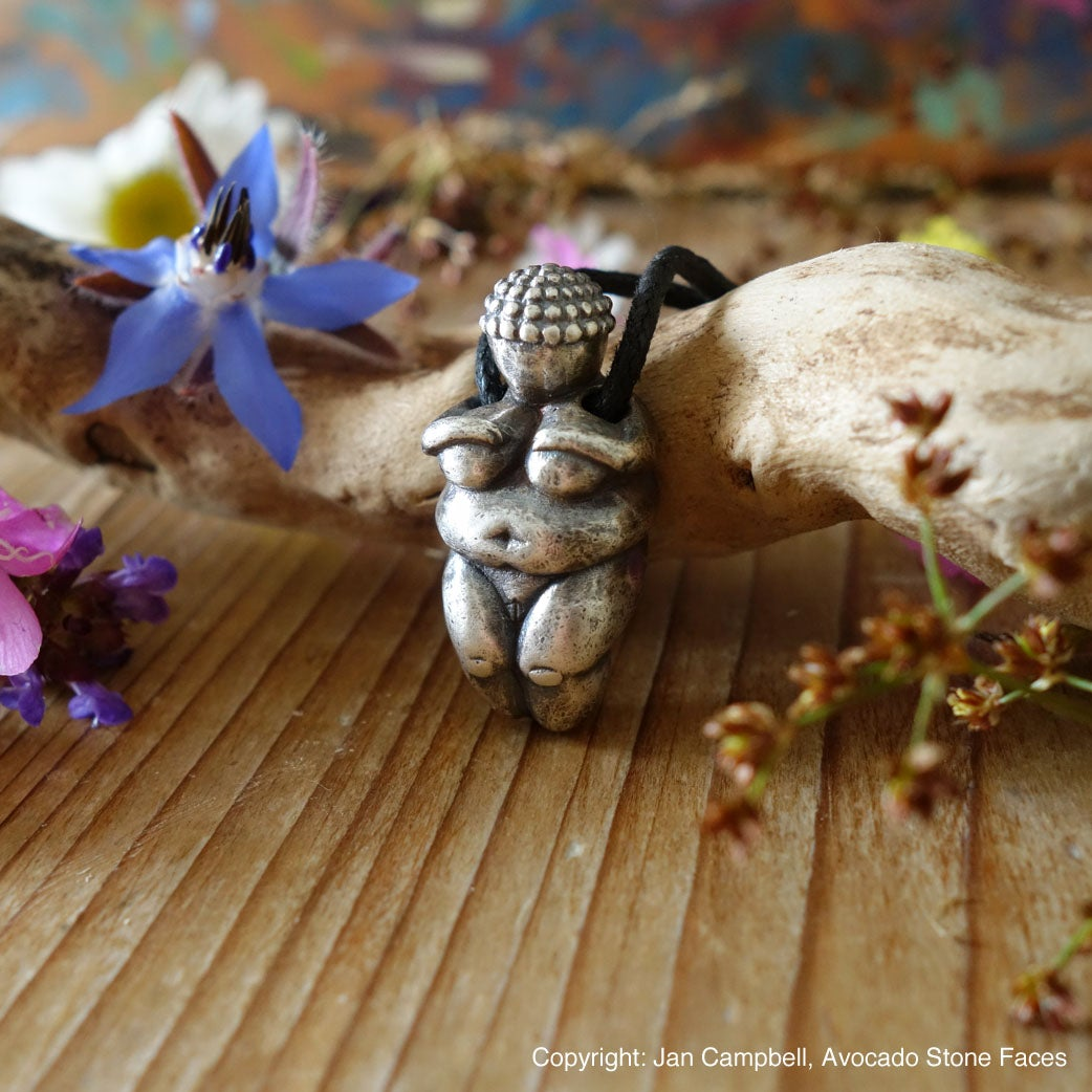 """Venus of Willendorf"" - Fertility Totem - Sterling Silver Pendant"
