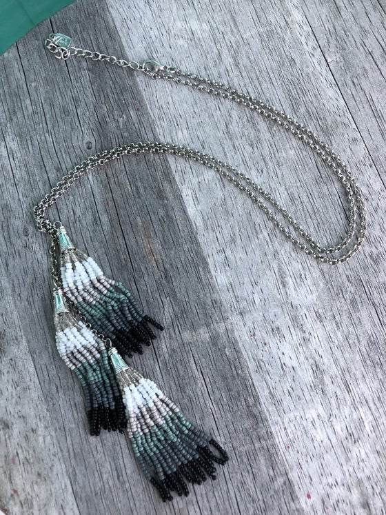 Image of Isabel tassel necklace.