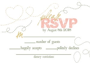 Image of Dotted Blush & Olive Wedding Package