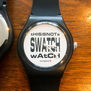 Image of tHISiSNOTa SWATCH wAtCH Watch and Stickers