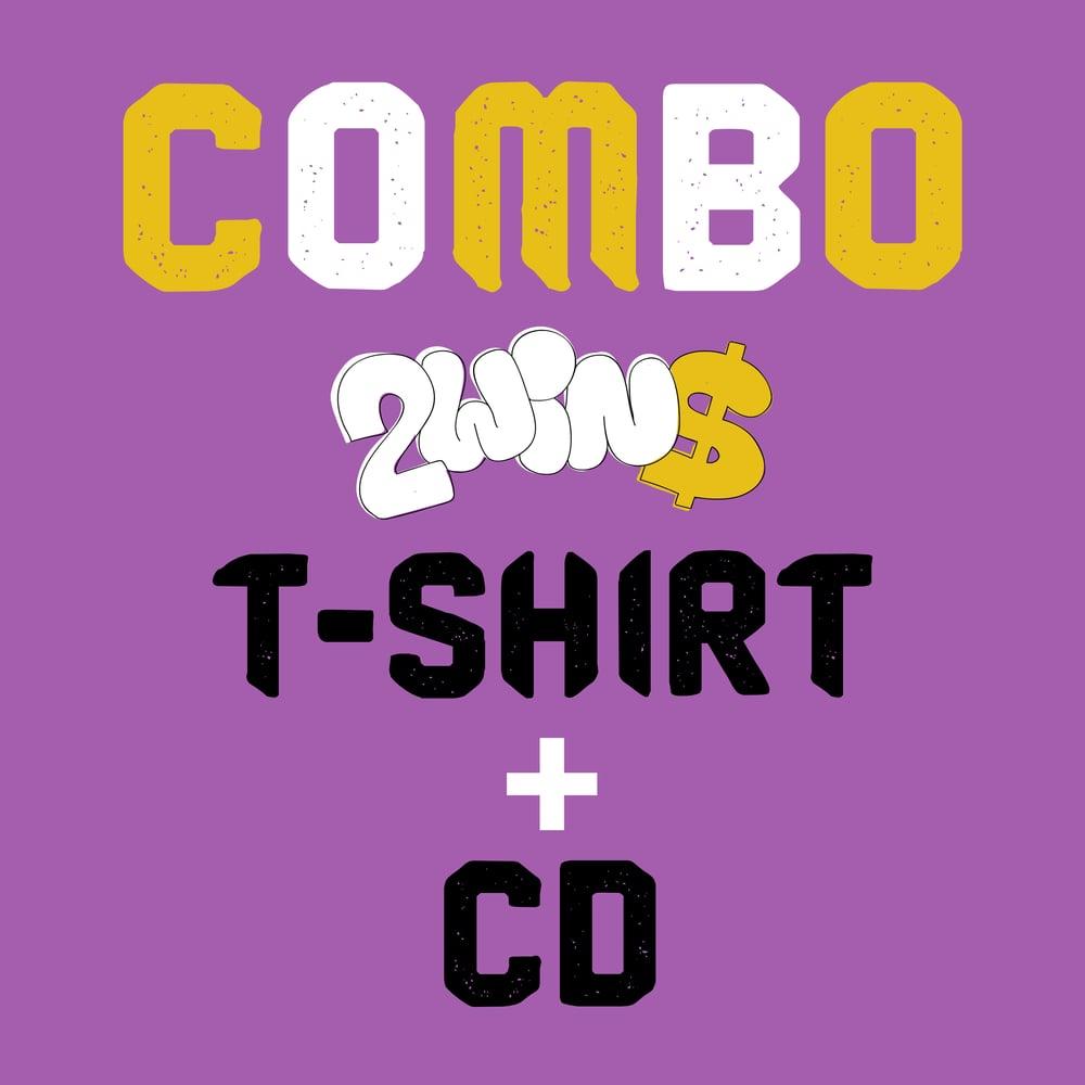 Image of COMBO CD + T-SHIRT UFFICIALE 2WIN$