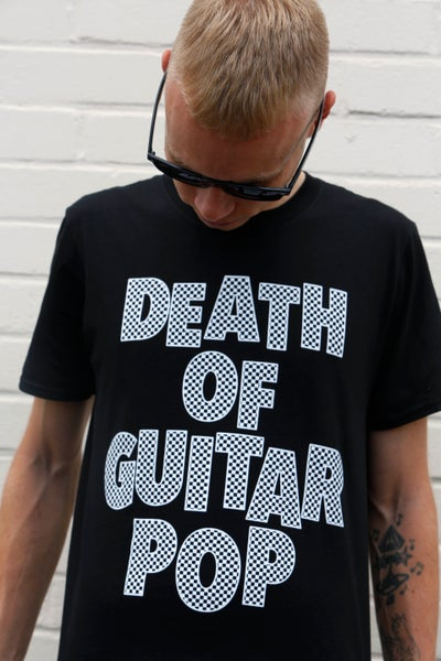 Image of DEATH OF GUITAR POP LOGO T-SHIRT (UNISEX)