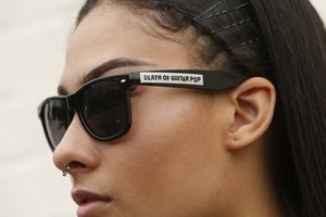 Image of DEATH OF GUITAR POP LOGO SUNGLASSES (UNISEX)