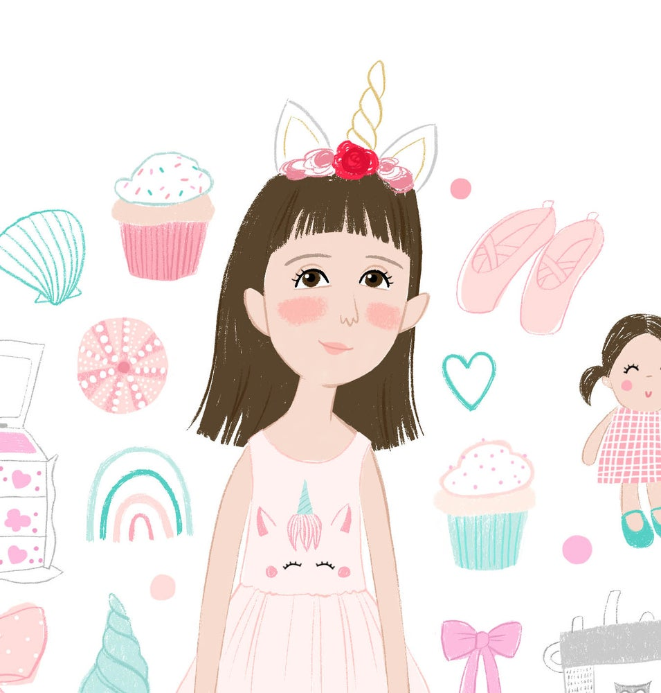 Image of Illustrated Children's Portrait