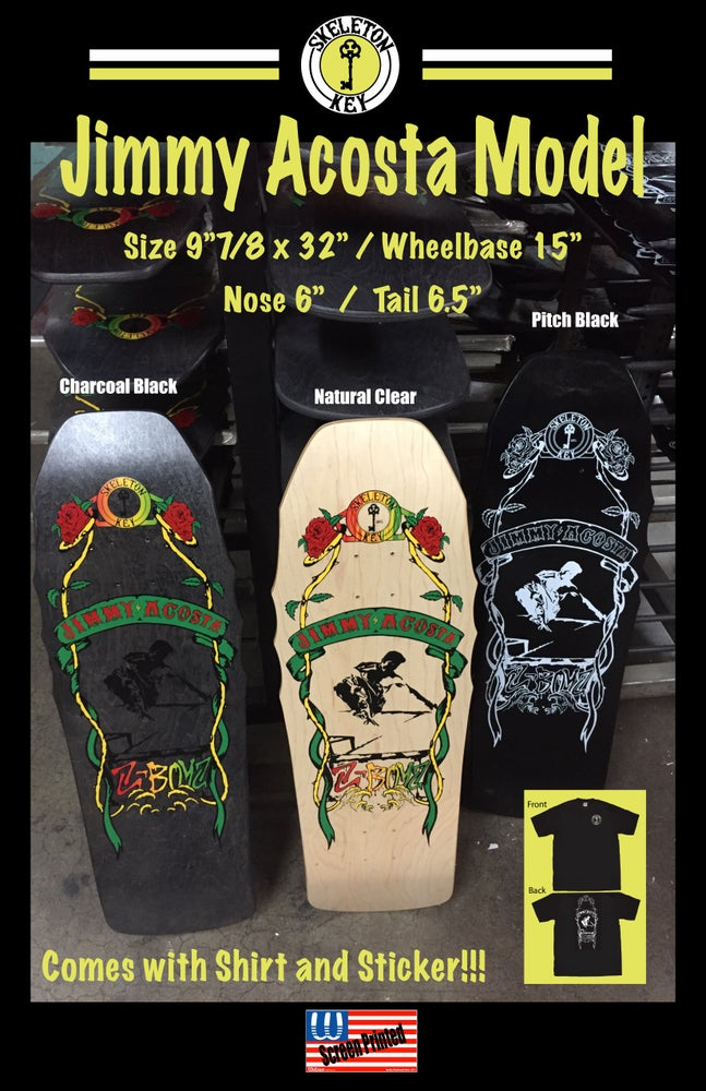 Image of Jimmy Acosta JA Model Deck (with limited JA shirt and sticker option).