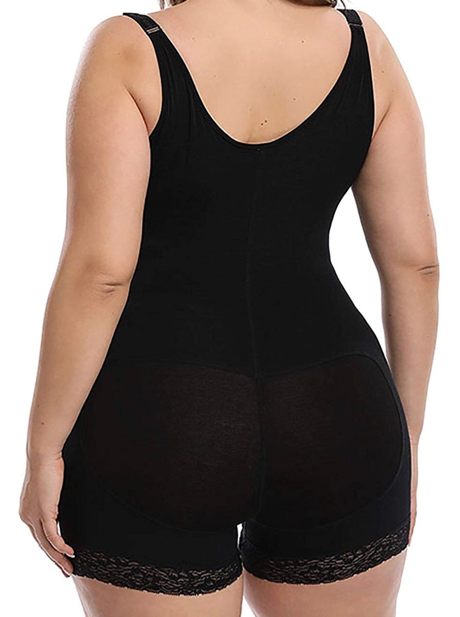 Image of Plus Size Mid-Thigh Open Bust Bodysuit
