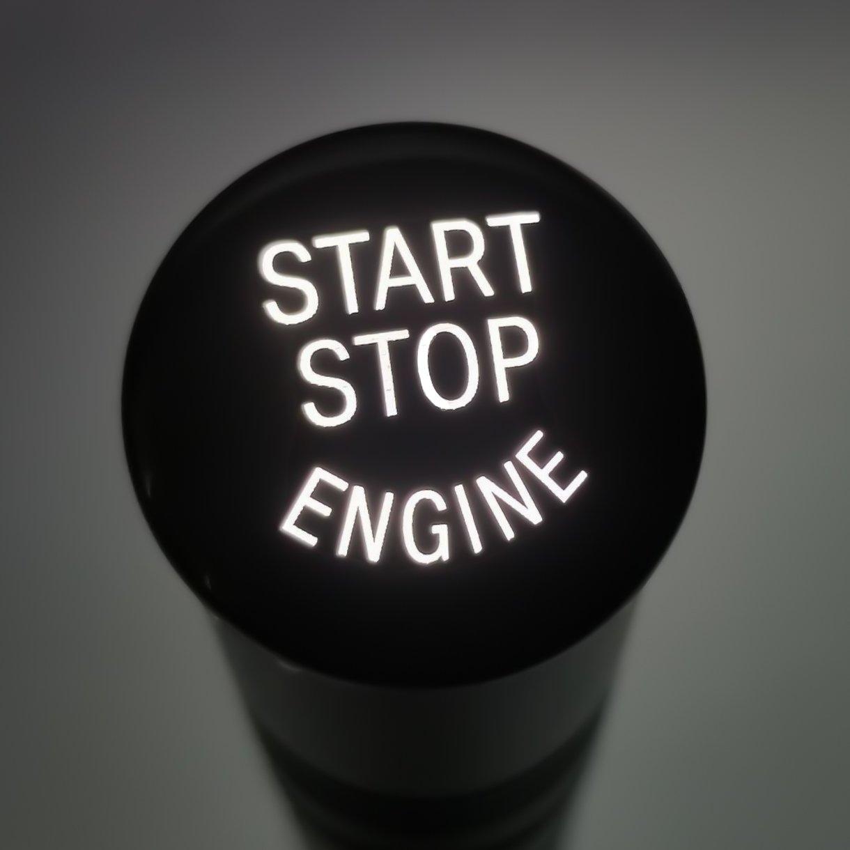 Image of Gloss Black Push Start Button (NEW)