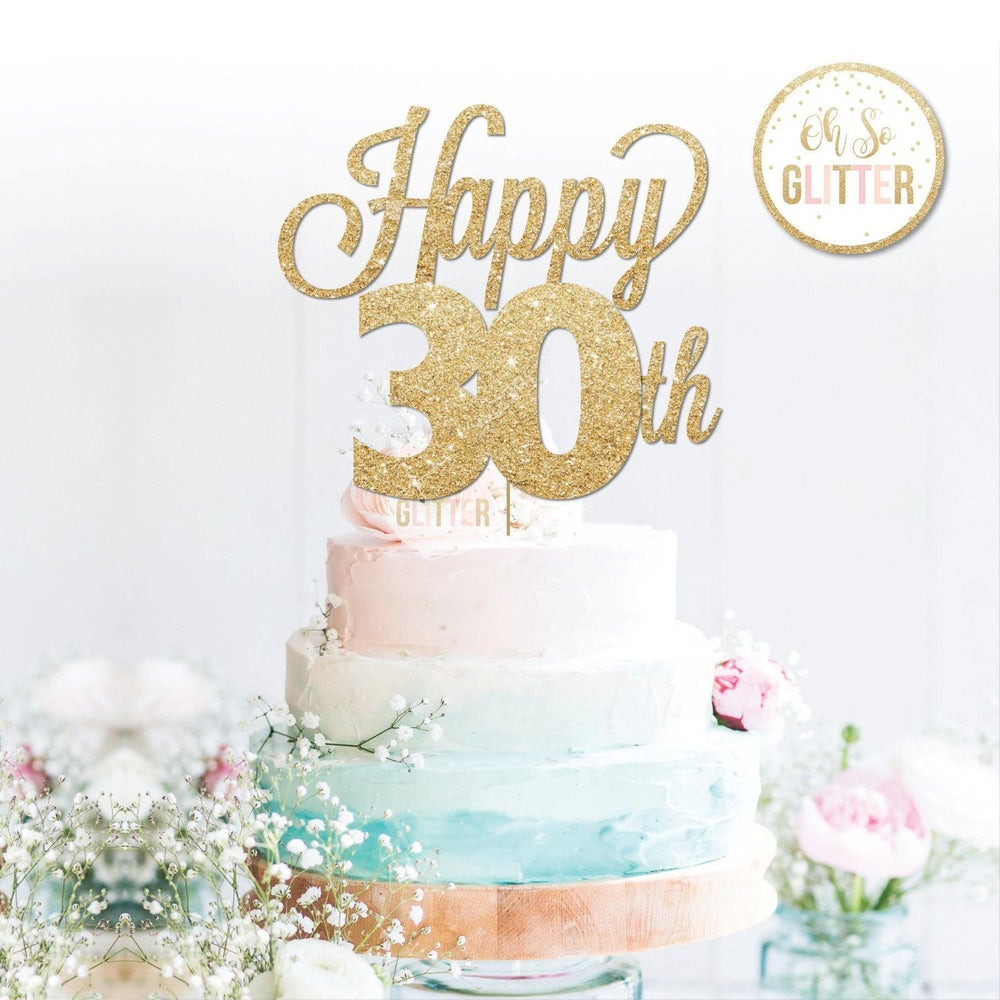 Image of Happy 30th (variety of ages) Cake Topper