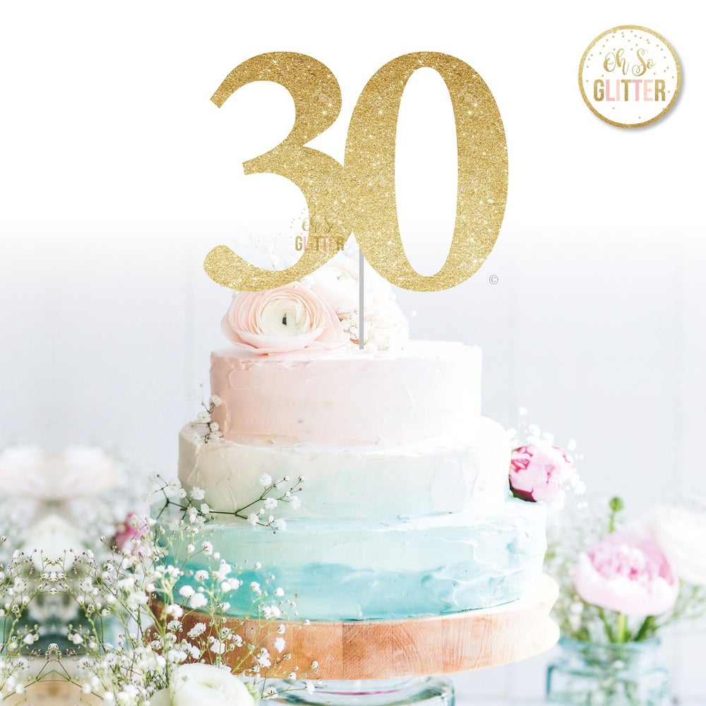Image of Large 30 (variety of ages) Cake Topper
