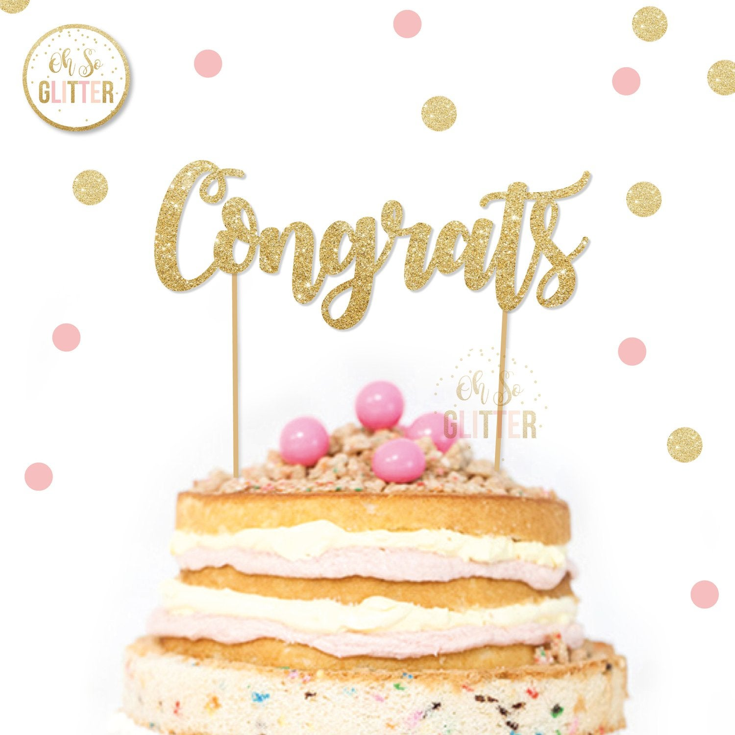 Image of Congrats Cake Topper