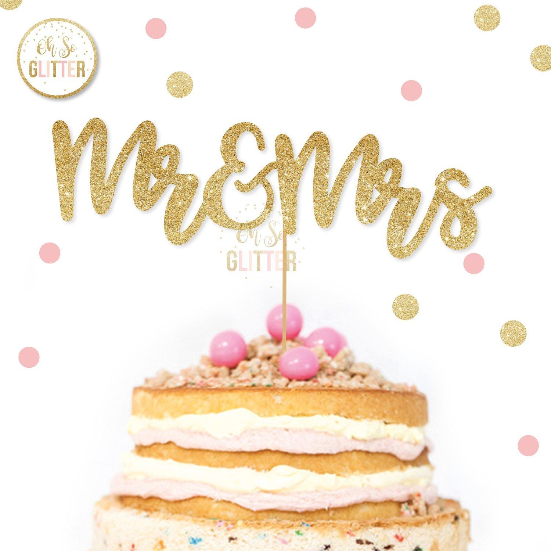 Image of Mr & Mrs Cake Topper