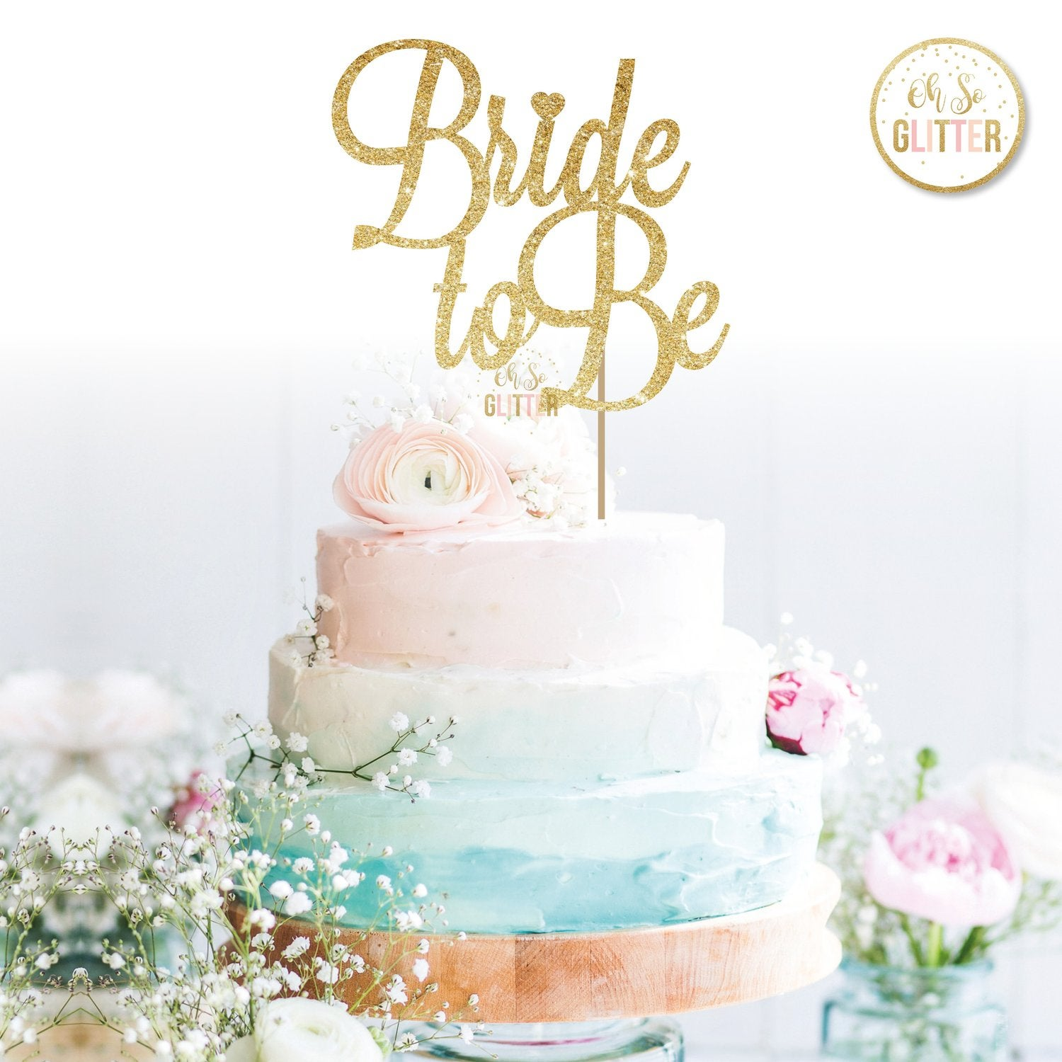 Image of Bride to Be Cake Topper