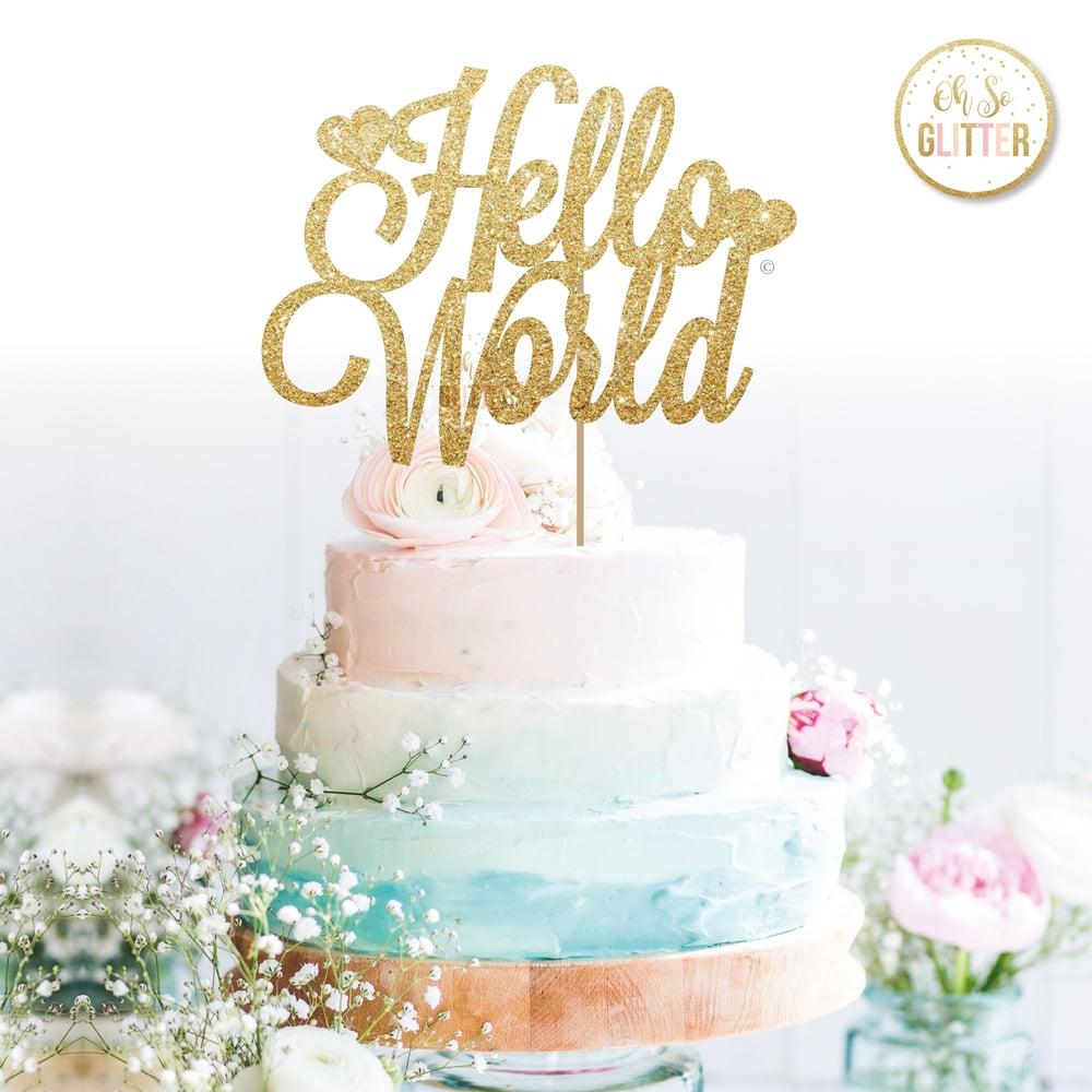 Image of Hello World Cake Topper