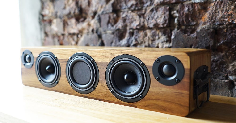 Image of MIN628 TWS Bluetooth Wooden Speaker