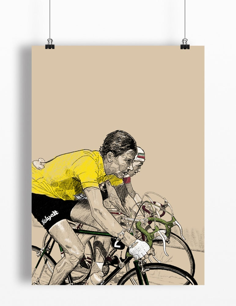 Image of Anquetil in Yellow print A4 - By Jason Marson