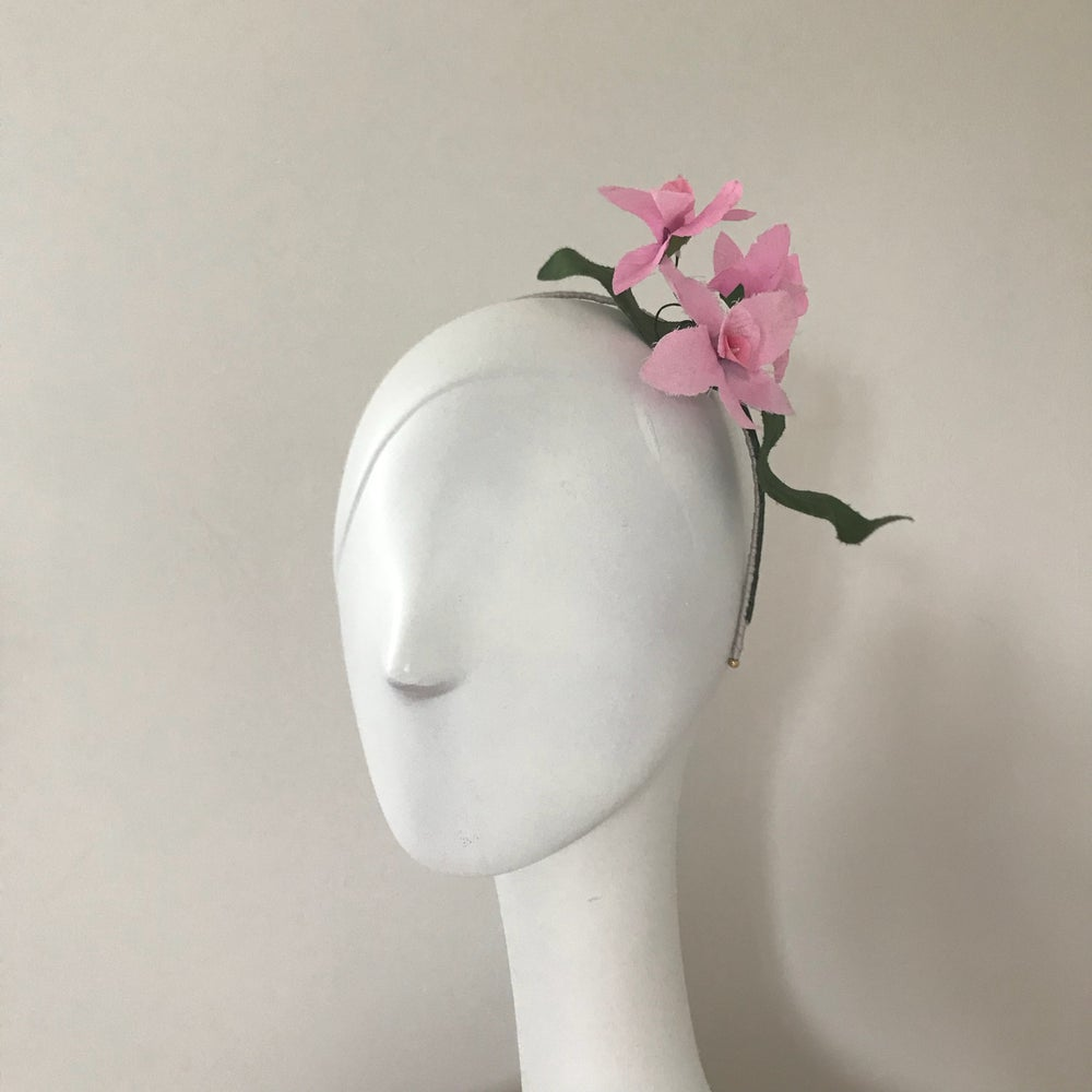 Image of Pink Floral Headpiece