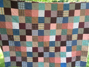 Image of King Size Patchwork Custom Reversible Quilt