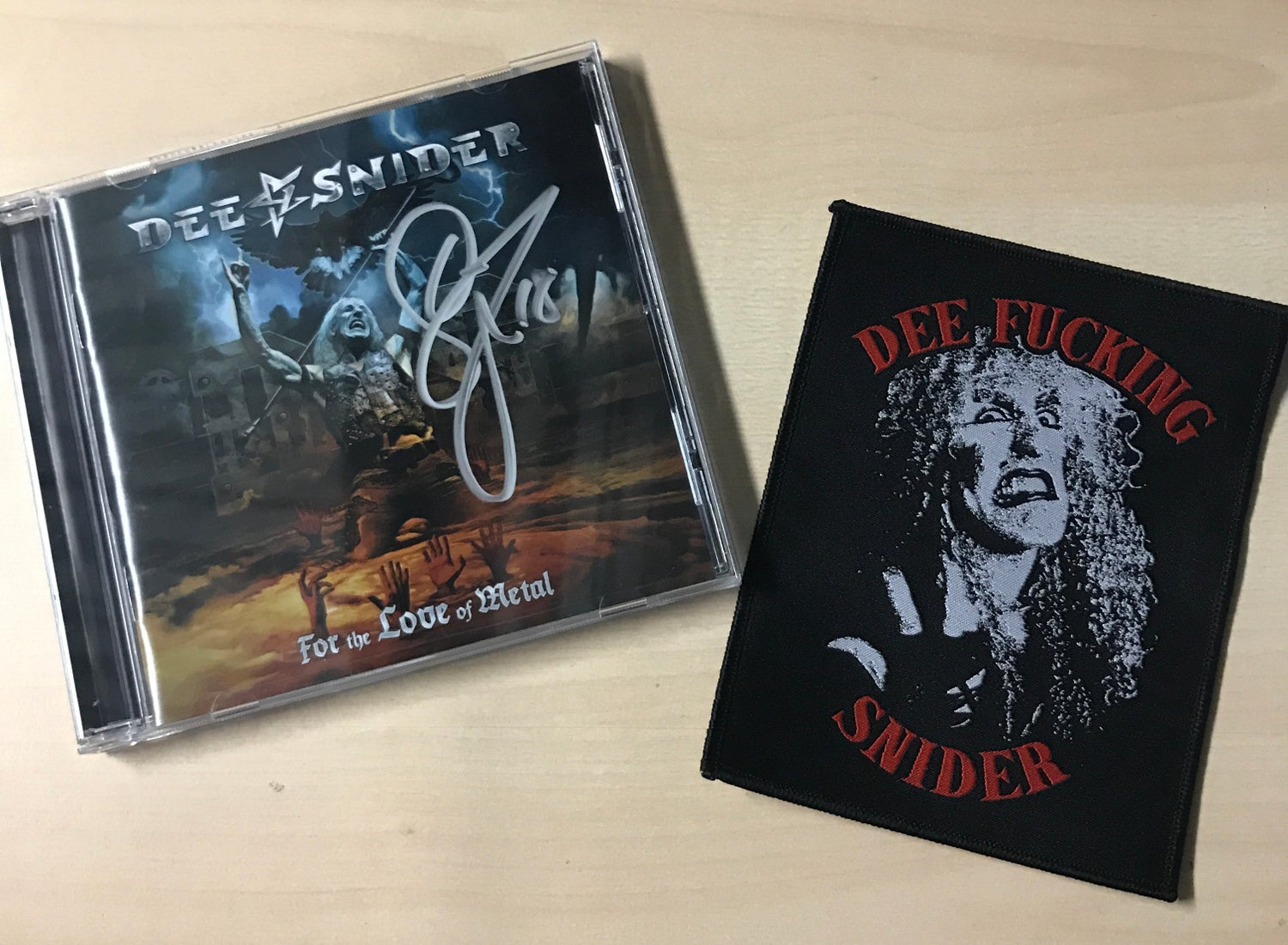 "Image of AUTOGRAPHED DEE SNIDER ""FTLOM"" CD + 4X5 INCH PATCH"