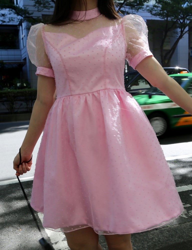 Image of Made To Order - Elizabeth Pink Satin Dress