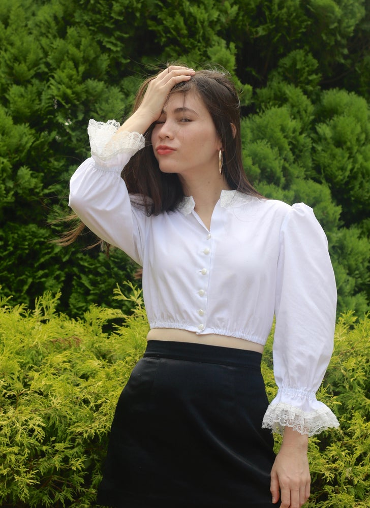 Image of Anne Top in White