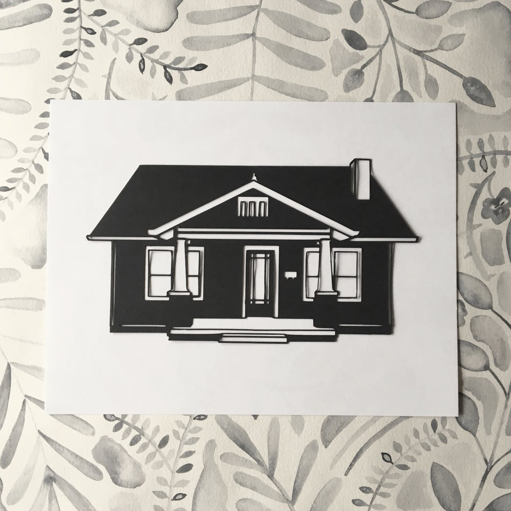 Image of Hand-Cut House Portrait