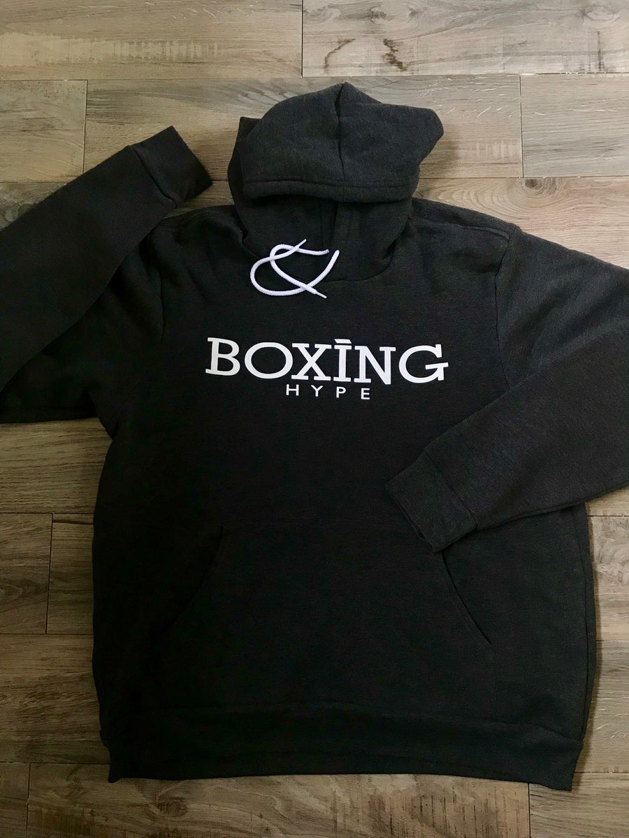 Image of Unisex Charcoal Gray BoxingHype Hoodies