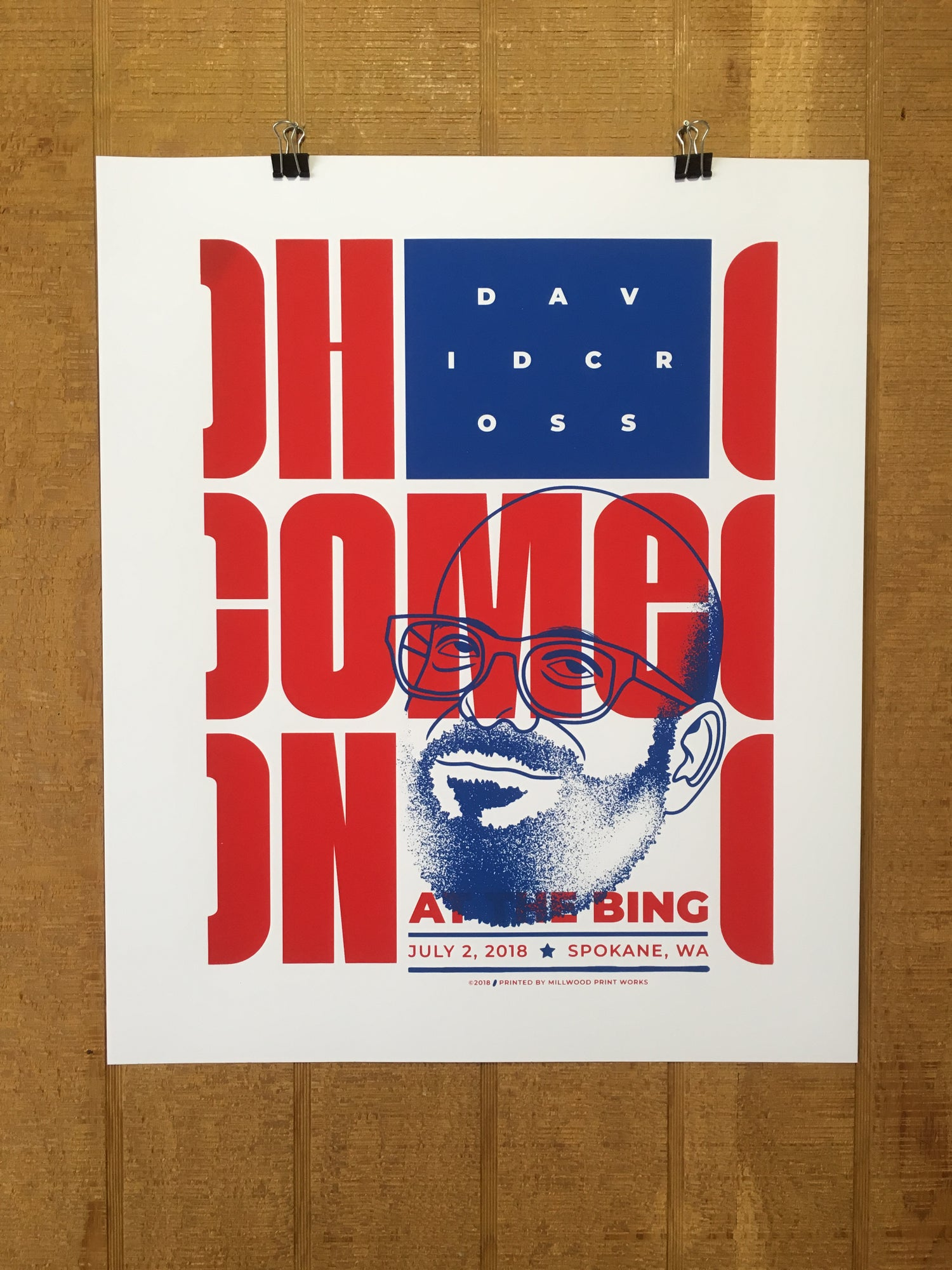 "Image of David Cross ""Oh Come On"" Show Poster"