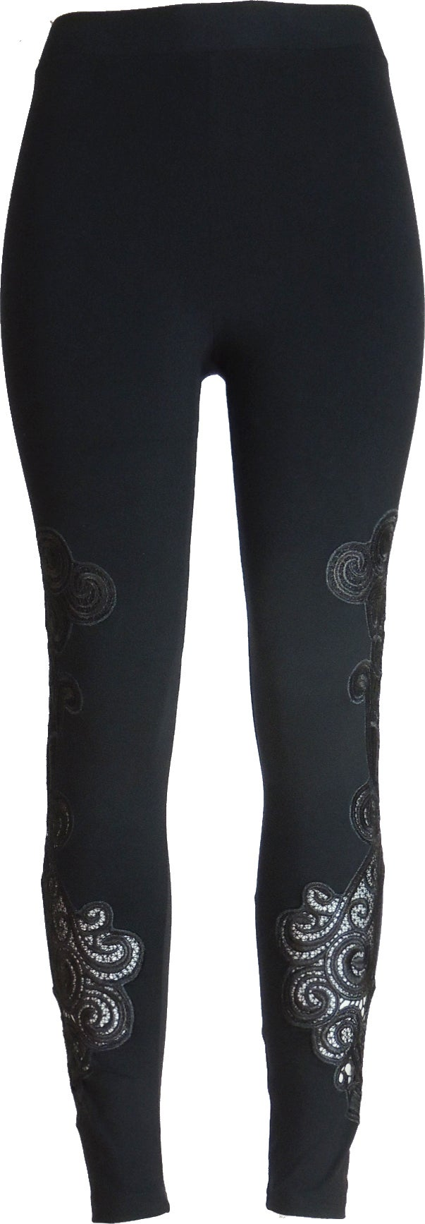 Black round lace FW6017