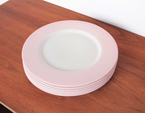 Image of Pink + White Porcelain Dinnerware