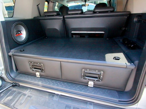 Image of PPaccessories Toyota FJ cruiser drawer slide system