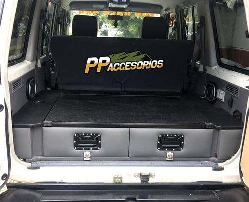 Image of PPaccessories Toyota Land Cruiser Prado/76/77 series drawer slide system