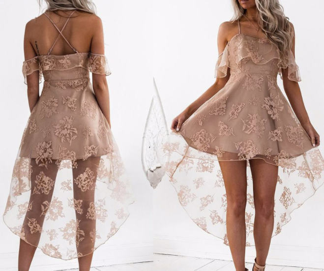 Image of Hot style sexy lace halter dress