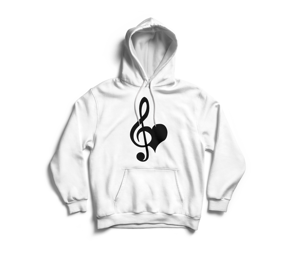 Image of Love & Music White Hoodie