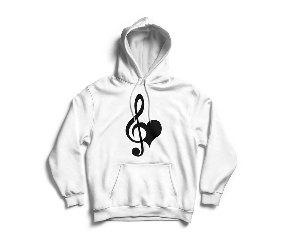 Image of Love & Music White Hoodie