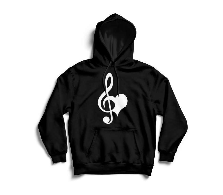 Image of Love & Music Black Hoodie