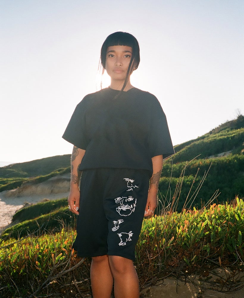 "Image of ""Distorted"" Jersey Shorts"