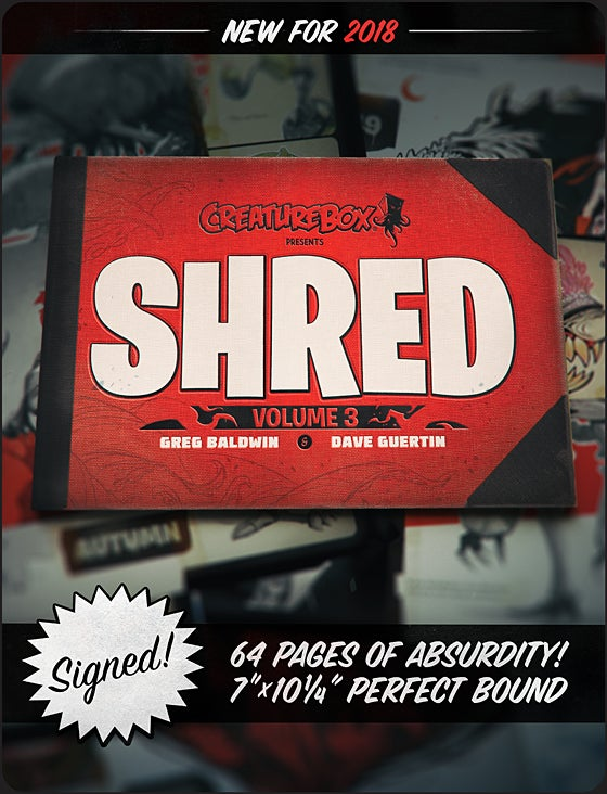 Image of SHRED: Volume 3 Print Edition
