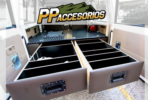 Image of PPaccessories Toyota Land Cruiser 70 series drawer slide system (no rear pasenger seats)