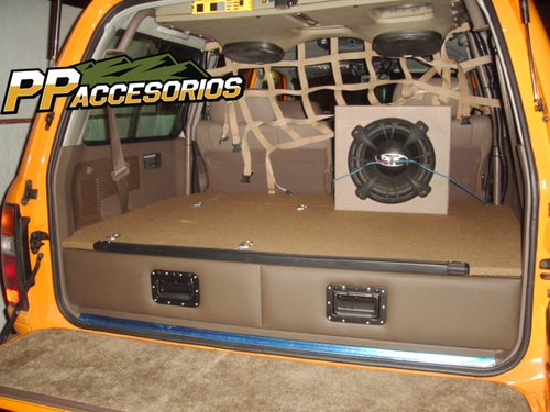 Image of PPaccessories Toyota Land Cruiser 80 series drawer slide system