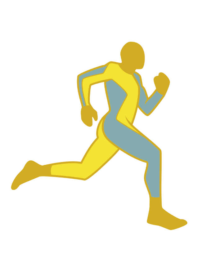 Image of The Running Man (Gold) by Clay Graham